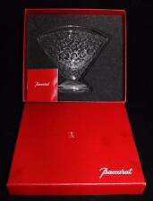 "Baccarat Vintage Crystal Art Deco RENDEZVOUS Large Fan Vase, MIB, 6"" x 7"", COA"