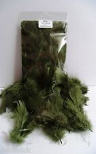 CRAFT FEATHERS OLIVE / SAGE GREEN 5gm  Bag Approx 20-25 pcs