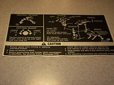 John Deere 140 Fender Deck Instructional Decal NEW OEM M47181