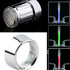Water Glow Shower 3 Color Changing LED Tap Faucet Light Temperature Sensor JBCA