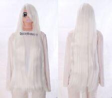 Y-10-1001 weiß white 100cm glatt COSPLAY hitzefest Perücke WIG Perruque Anime
