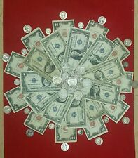 $1.00 Silver Certificate $2.00 Red Seal and $1.00 in Silver Coins