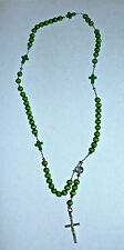 STYLISH GLASS  ROSARY BEADS COLOR GREEN