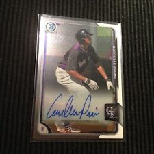 2015 BOWMAN CHROME CORRELLE PRIME *PROSPECT BASE AUTO*  COLORADO ROCKIES