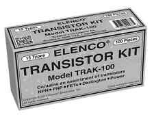 ELENCO TRAK-100 TRANSISTOR KIT 100 PIECES 15 TYPES Packed in an organizer box
