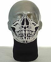 Bandero Motorcycle Face Mask - Long Neck - Skull Design