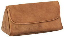 4th Generation Hunter Brown Suede Leather Combination Pipe & Tobacco Pouch 7954