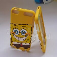 Yellow Spongebob Cartoon Dual Back Case & Front Cover for iPod Touch 5 5th