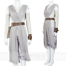 Star Wars The Force Awakens Rey Cosplay Costume Outfit  Halloween Costume