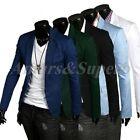 Men Casual Slim Fit Short Suit Stylish One Button Blazer Jacket Coat Black S M L