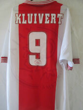 Ajax 1996-1997 Kluivert 9 Home Football Shirt Size XL /34685