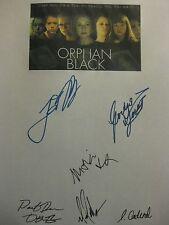 Orphan Black Signed TV Script X6 Tatiana Maslany Jordan Gavaris Michael Mando rp