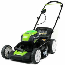 """Greenworks (21"""") 80-Volt Lithium-Ion 3-In-1 Cordless Electric Lawn Mower (Mow..."""