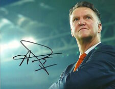 LOUIS VAN GAAL Signed Autographed 8x10 Photo Manchester United Manager Proof!