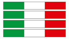 Kfz-Aufkleber Flagge Italien Set RI (Italia Italy  Auto Motorrad Boot LKW)