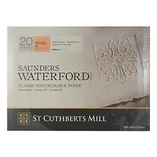 Saunders Waterford Watercolour HP 300gsm Archival Paper Block 20 Sheets 12 x 9""