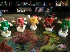 Lot of 5 M&M's Christmas Ornaments