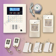 D-series Quad-band GSM PSTN Wireless Home Security Alarm System LCD D02