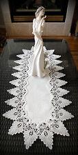 """54"""" Antique White Dresser Table Runner Formal European Lace Doily"""