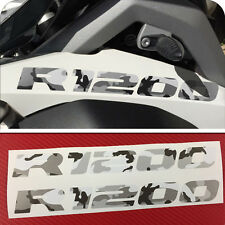 2 Adesivi Serbatoio Moto BMW R 1200 gs adventure 2015  Mimetico GREY 245X25 mm
