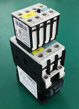 Siemens Sirius 3RT10261BB40 3 Pole Contactor + Diode+ Auxiliary Contact Assembly