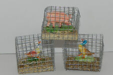 Animal Figurines Farm Barn Ducks Pig Countryside Cage Decoration Western Decor