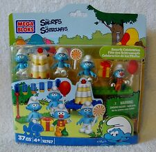 Mega Bloks 10767 The Smurfs Celebration 37 Pieces New in Box