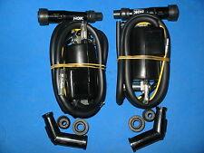 2x KAWASAKI Z1 KZ650 KZ750 KZ900 KZ1000 4 OHM IGNITION COILS W/ PLUG CAPS
