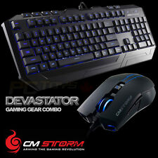CM Storm Devastator - Blue LED Backlight Gaming Keyboard and Mouse Combo Bundle