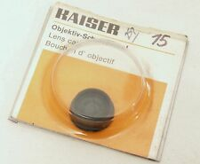 Kaiser 15mm Push Fit Lens Cap - German Made - New / Old Stock