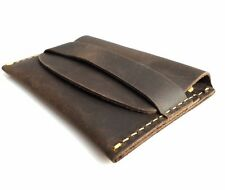 Genuine full Leather man mini wallet Money id credit cards holder pocket Minimal