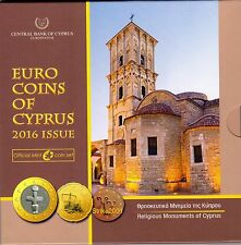 NEW !!! Euro CIPRO 2016 in Folder Ufficiale Zecca NEW !!!