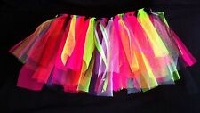Flo/Neon Multi Colour Tutu 80's Fancy Dress Hen Party Charity Run Dance.One Size