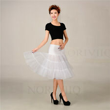 Knee Short Petticoat Skirts Crinoline Tutu Underskirt Bridal Dress Slips Women