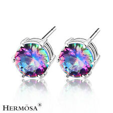 75% OFF Anniversary Rainbow Fire Topaz Exciting 925 Sterling Silver Earring