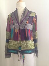 ETRO $1K  Mixed Media 70's Boho Chic Patch Blouse Jacket  XS  40  NWOT