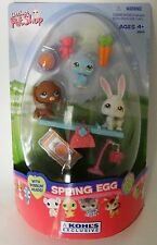 Littlest Pet Shop Spring Egg with Dachshund weiner dog, bunny & blue bird