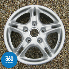 "1 x GENUINE PORSCHE BOXSTER 16"" 5 SPLIT SPOKE FRONT ALLOY WHEEL 6J 99636211200"
