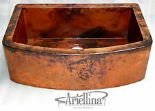 Ariellina Farmhouse 14 Gauge Copper Kitchen Sink Lifetime Warranty New AC1832 NF