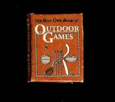 Mini Illustrated The Boys Own Book of Outdoor Games 1:12 Dollhouse Miniatures