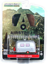 GREENLIGHT 29857 AIRSTREAM 16 BAMBI SPORT TRAILER 1/64 SILVER GREEN MACHINE