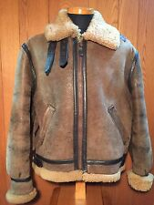 Free shipping VINTAGE SCHOTT B-3 BOMBER FLIGHT JACKET 38 BROWN