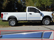 Fits Ford Superduty 2DR 2017 Stainless Polished Chrome Body Side Molding Trim