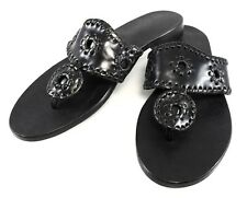 JACK ROGERS Black LABEL NAVAJO Thongs Sandals Slip On Slides Womens Shoes 5.5