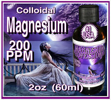 60+ml (2oz) Pro Magnesium High Voltage Colloidal Formula USA #1 Glass Bottle USA