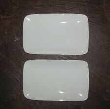 Set of Two (2) STARBUCKS Rectangle Porcelain Plates / Dishes  9.25 Inches NEW
