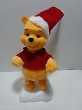 VINTAGE 1996 DISNEY TELCO ANIMATED WINNIE THE POOH CHRISTMAS MOTIONETTE FIGURE