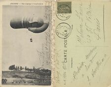 Tarjeta Postal. Argonne. Une saucisse d'observation.
