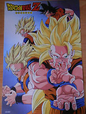 DRAGON BALL POSTER GOKU SUPER SAIYAN Z  42x29 CM NEW