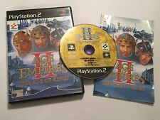 PAL PLAYSTATION 2 PS2 GAME AGE OF EMPIRES II : THE AGE OF THE KINGS COMPLETE
